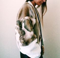 the design studio faux fur bombers - Google Search
