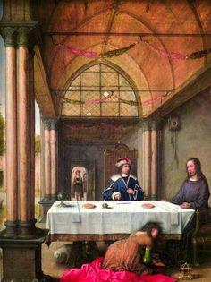 Cena en casa de Simón, de Juan de Flandes, en el Palacio Real de Madrid