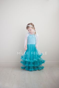Frozen Princess Elsa dress pettiskirt by MilleFeuilleBoutique