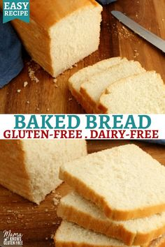 Gluten Free White Bread Recipe, Gluten Free Sandwich Bread Recipe, Dairy Free Bread, Gluten Free Sandwiches, Dairy Free Eggs, Easy Bread Recipes, Gluten Free Baking, Dairy Free Recipes, Gluten Free Homemade Bread