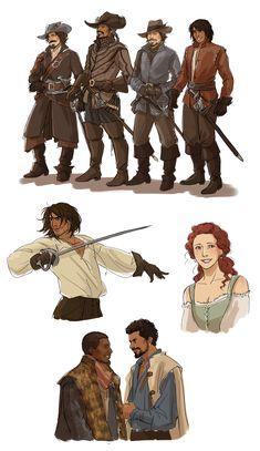 the musketeers by Spader7.deviantart.com on @DeviantArt