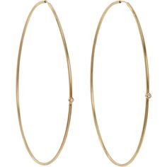 Jennifer Meyer Women's White Diamond Hoops ($675) ❤ liked on Polyvore featuring jewelry, earrings, accessories, brincos, bijoux, 18k earrings, earrings jewelry, white diamond hoop earrings, jennifer meyer jewelry and polish jewelry