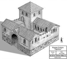 Romans Fortress - by MythosRuler on DeviantArt Fantasy City, Fantasy Castle, Fantasy House, Minecraft Medieval, Minecraft Castle, Roman Architecture, Minecraft Architecture, Small Castles, Minecraft Construction