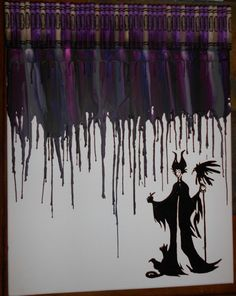 Maleficent Melted Crayon Painting by OnceUponACrayon on Etsy, $45.00