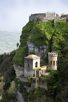 Erice Castles, City of Erice, Sicily, Italy, by Tu Anh Nguyen