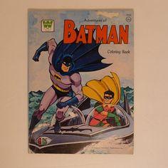 Vintage Batman Coloring Book 1966 National Periodical Publications Whitman Book #Whitman