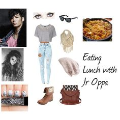 """""""Lunch With Jr **NU'EST**"""" by richeygabby on Polyvore"""