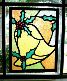 Holiday Tissue and Construction Paper Stained Glass