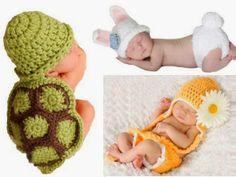 MODA INFANTIL ROPA  para niños ropa para niñas ropita bebes: PARA BEBES DISFRACES A CROCHET