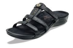 3c68c934745 Aetrex Catalina Black Adjustable Leather Gladiator Most Comfortable Sandals