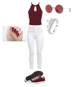 To the mall by miraclemitchell on Polyvore featuring polyvore, fashion, style, Miss Selfridge, Converse, Ray-Ban and clothing