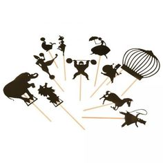 Circus Shadow Puppets #OompaToys #MoulinRoty Theatre and other shadow puppet options available!