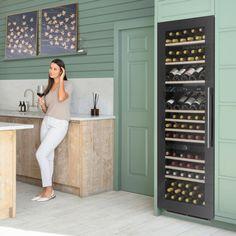 WC1796 | In-Column Wine Cabinets | Caple UK Wine Cabinets, Black Cabinets, Air Ventilation, Sliding Shelves, Wine Chiller, Sink Taps, Bottle Sizes, Champagne Bottles, White Led Lights