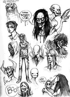 Creepypasta Doodles 2