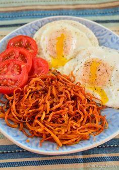 Slimming Eats Sweet Potato Hash - gluten free, dairy free, whole30, paleo, vegetarian, Slimming World and Weight Watchers friendly
