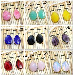 Exclusive Sale Natural Big Gemstone 24k Gold Plated Earring Handmade Jewelry 04 #Handmade #DropDangle