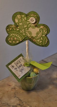 made these for my friends for Pattys day.. Easy and fun. Even my daughter made one for her friend