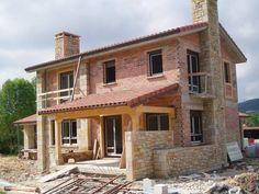 fachada de casa en piedra