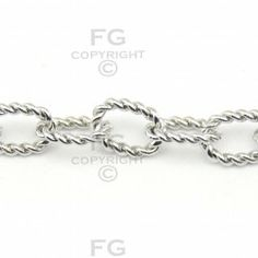 Stainless Steel - Oval Twist Chain
