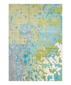 Blue Aberdine Rug #zulily #zulilyfinds