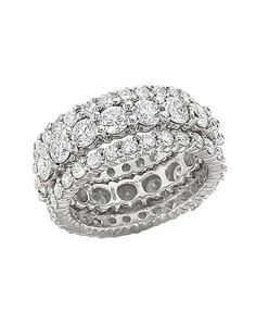 Stackable diamond rings from Lieberfarb inspiring-engagement-wedding-rings