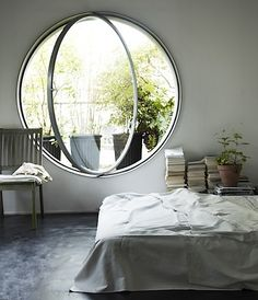 The most awesome window in a bedroom