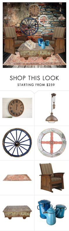 """""""Rustic Vintage"""" by chickadee73 ❤ liked on Polyvore featuring interior, interiors, interior design, home, home decor, interior decorating, ELK Lighting, DutchCrafters, GO Home Ltd. and rustic"""