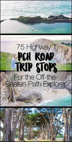 75 Highway 1 PCH Road Trip Stops for the off-the-beaten-path explorer or the one who wants to see it all! Includes ALL of Pacific Coast Highway from Leggett to Dana Point - including Fort Bragg, Jenner, Point Reyes, Marin, San Francisco, Monterey, Carmel, Big Sur, SLO, Santa Barbara, Malibu, LA, Newport Beach, and Laguna Beach!
