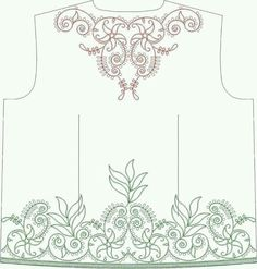 Tambour Beading, Tambour Embroidery, Embroidery Motifs, Shirt Embroidery, Silk Ribbon Embroidery, Cross Stitch Embroidery, Machine Embroidery, Bordados Tambour, Embroidery Neck Designs