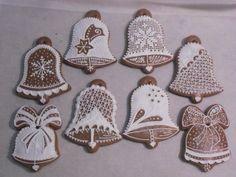 Algunos Arboles de Navidad de pan de jengibre.