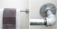 DIY: Plumbing Pipe for a Towel Rack  Ideas for my 'Steam Punk' bathroom!