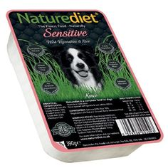Naturediet Sensitive Dog Food 18 x 390g Salmon with vegetables and rice The elimination of meat proteins makes it suitable for allergy management or it can simply be used as a change of diet Ingredients: