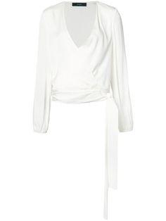 ELLERY V-Neck Wrap Blouse. #ellery #cloth #blouse