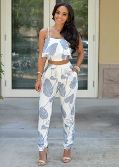 Joanna Blue Silver Two Piece Set