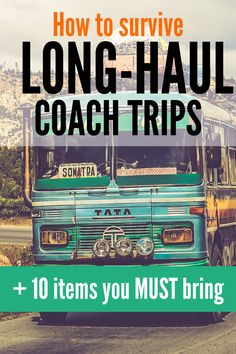 Long distance #travel doesn't always mean catching a flight. Sometimes it means a long-haul coach trip!  Here's how you can get through 10+ hours on a bus or coach, plus the 10 items you MUST bring with you.  #longdistancedating #LDRblog #longdistancerelationship #longdistancetraveltips #travelsurvivalguide #budgettravel Long Distance Dating, Catch A Flight, Bus Ride, Distance Relationships, Long Haul, Survival Guide, Budget Travel, Bring It On, Survival Guide Book