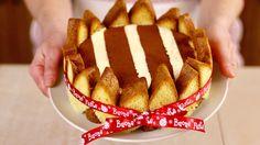 Charlotte di pandoro, ovvero come riciclare il pandoro dopo le feste! Una torta senza cottura facilissima e golosa. Un fantastico dessert alla crema...