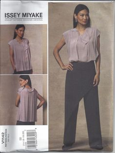 Vogue 1142 Pattern for Misses' Top & Pants by Designer Issey Miyake, Vogue Designer Original, FACTORY FOLDED, UNCUT, 2009, Sz 6-12 or 14-20 by VictorianWardrobe on Etsy