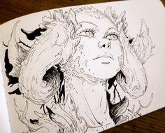 Still sketching/inking. http://ift.tt/29ZrvTI