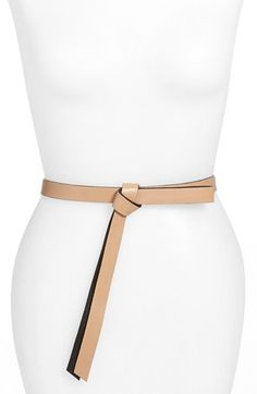 Free shipping and returns on B-Low the Belt 'Ribbon' Leather Belt at Nordstrom.com. A chic ribbon-like tie and gilded push studs amplify the clean-lined sophistication of this soft leather belt.