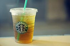 Tall iced black tea with five pumps of sugar from Starbucks