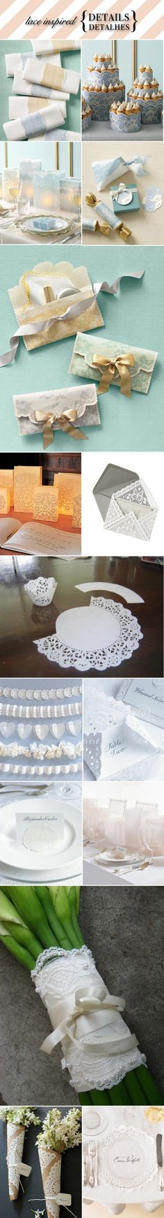 Using doily at weddings