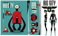 Big City Robots by ~BrandonRagnar on deviantART