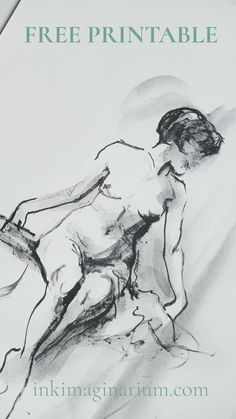 Do you love nude art? This beautiful drawing, focused in the line and the gesture is perfect as wall decoration in any space, and you can print it in any size you want! Human Figure Sketches, Body Sketches, Figure Sketching, Figure Drawing, Drawing Sketches, My Drawings, Pencil Sketching, Realistic Drawings, Pencil Drawings