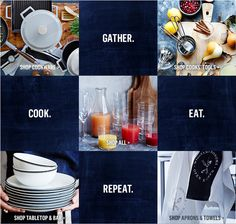 Introducing Williams-Sonoma Open Kitchen - outfit your kitchen with everyday values for every meal. Shop Apron, Open Kitchen, Williams Sonoma, Cooking Tools, Graphic Design Inspiration, Cookware, Book Design, Photo Book, Project Life