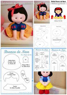 Felt Crafts Patterns, Sewing Patterns, Felt Fabric, Fabric Dolls, Doll Crafts, Diy Doll, Rag Doll Tutorial, Bear Felt, Sewing Projects For Kids
