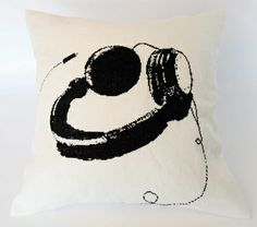 """Cross stitch, blackwork. From the book """"Making Cushions and Pillows"""" by Nina Granlund Sæther."""