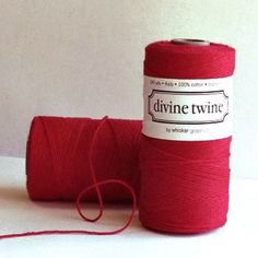 Red baker's twine is an essential for Valentine's Day!