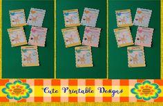 Printable Gift Cards, Cute Cards,  Animals Cards , GC-CCSC-31 de CutePrintableDesigns en Etsy
