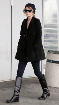 taylor swift - i like this whole look, especially the coat.