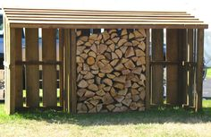 Three Bay Store - logs and bins